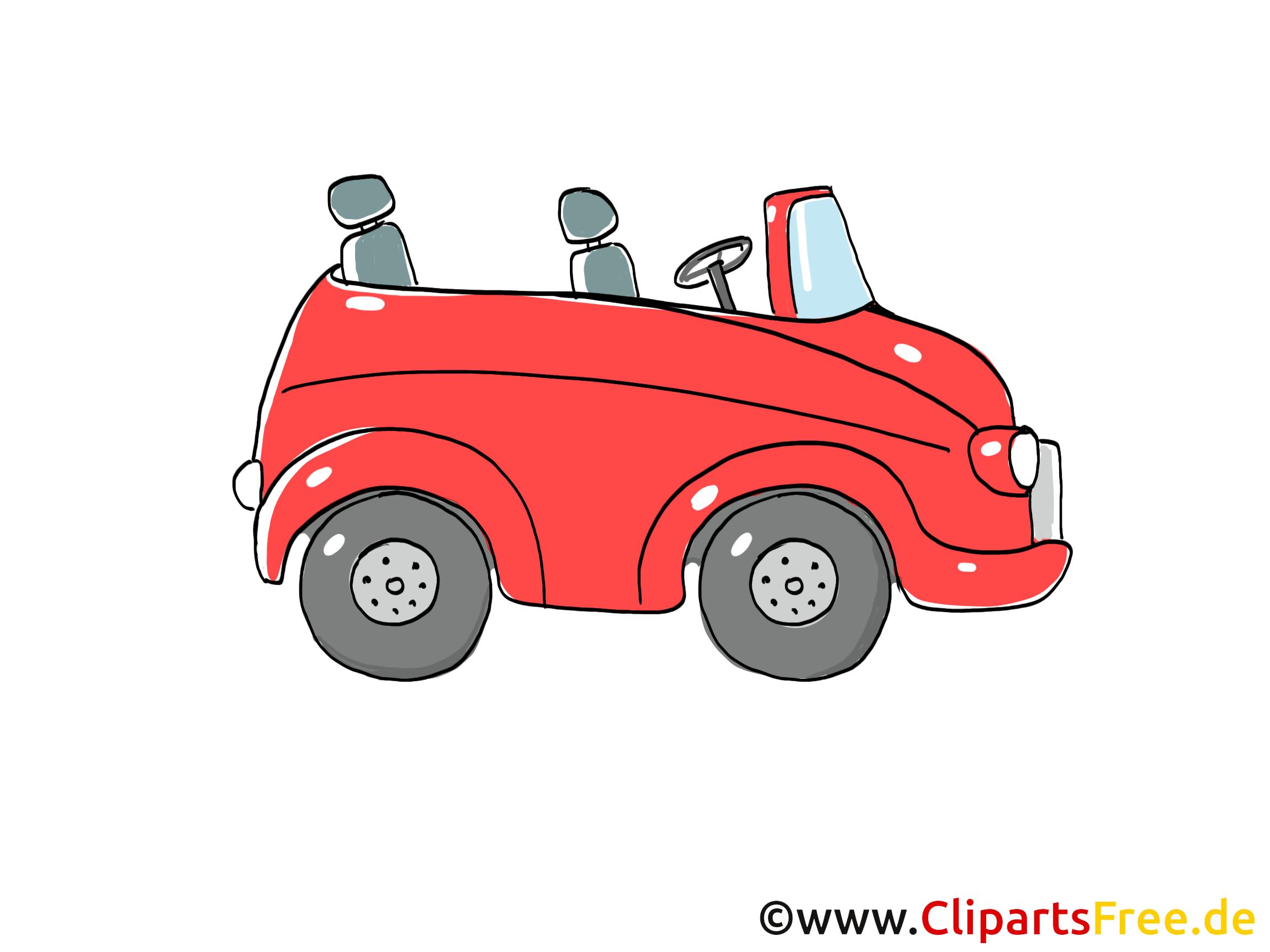 Kabrio Clipart, Bild, Cartoon, Comic, Grafik