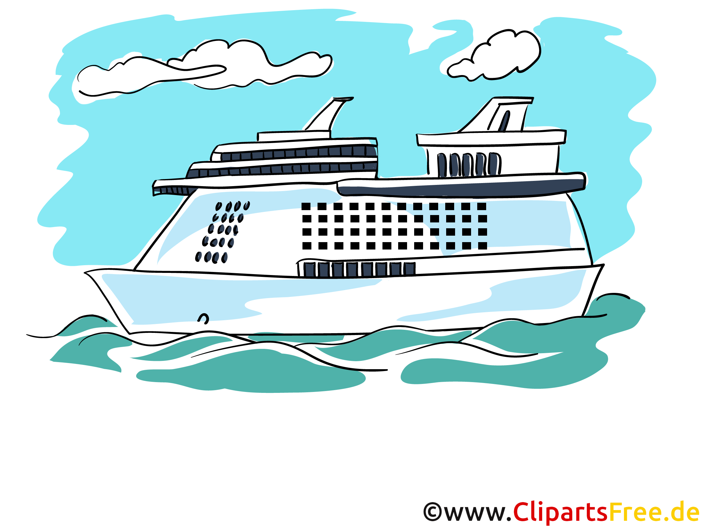4570book Clipart Kreuzfahrtschiff Kostenlos In Pack 5634