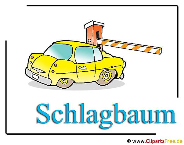 Schlagbaum Clipart free Logistik
