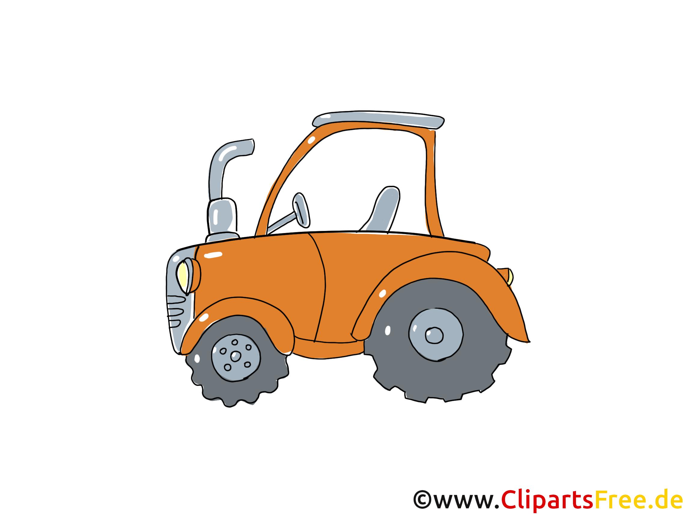 Traktor Clipart, Bild, Cartoon, Comic, Grafik
