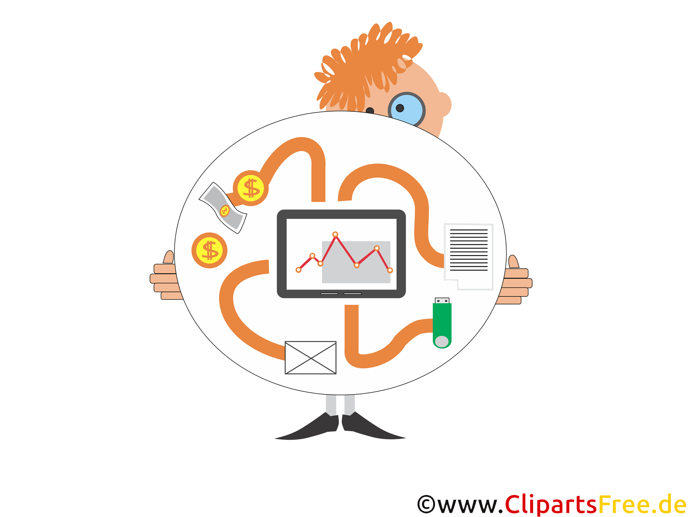 App Geldtransfer, finanzielle Technologie. Start-Up Illustration, Bild, Clipart