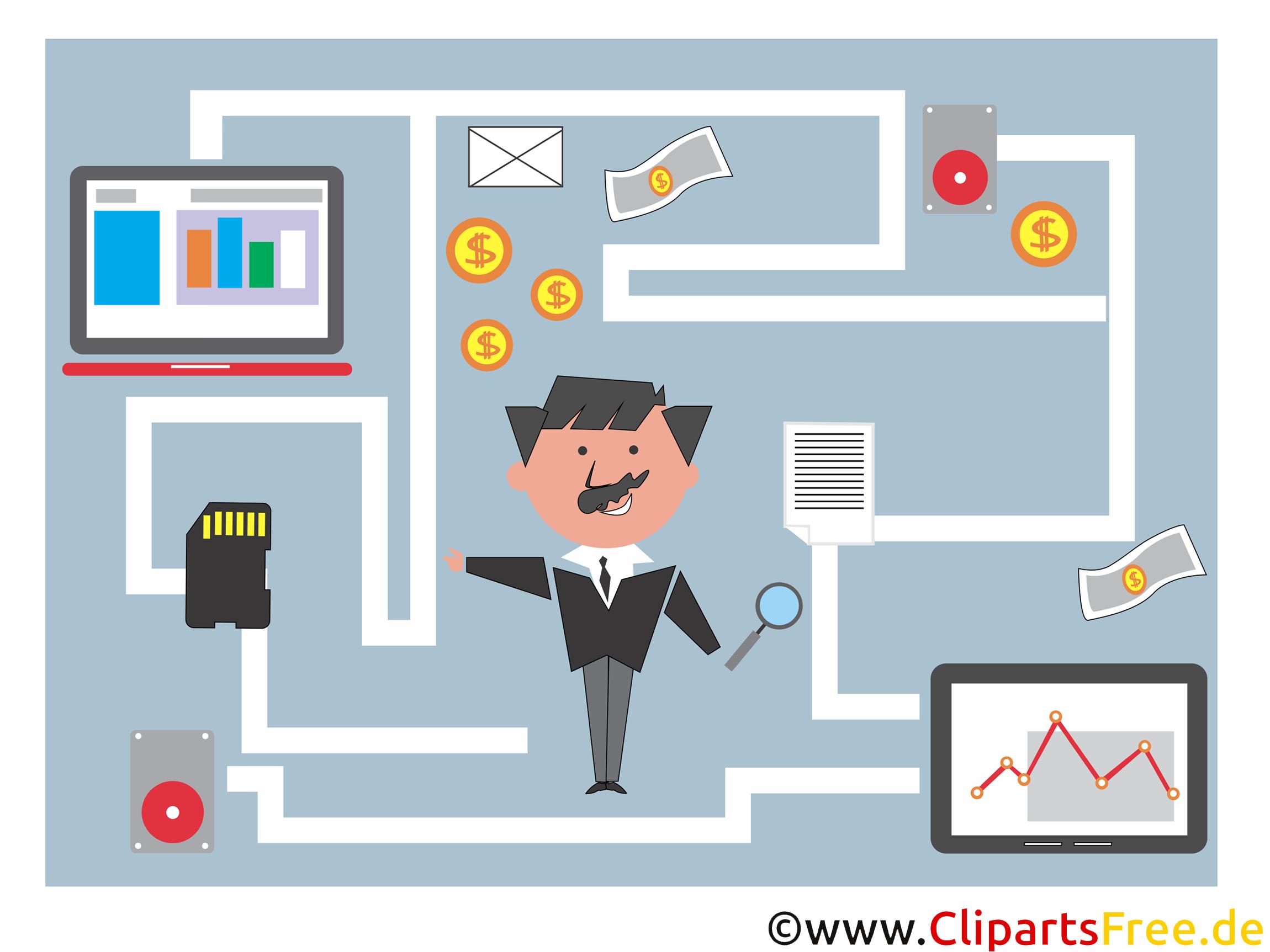 Clip Art StartUp, Fintech, Geldtransfer im Internet