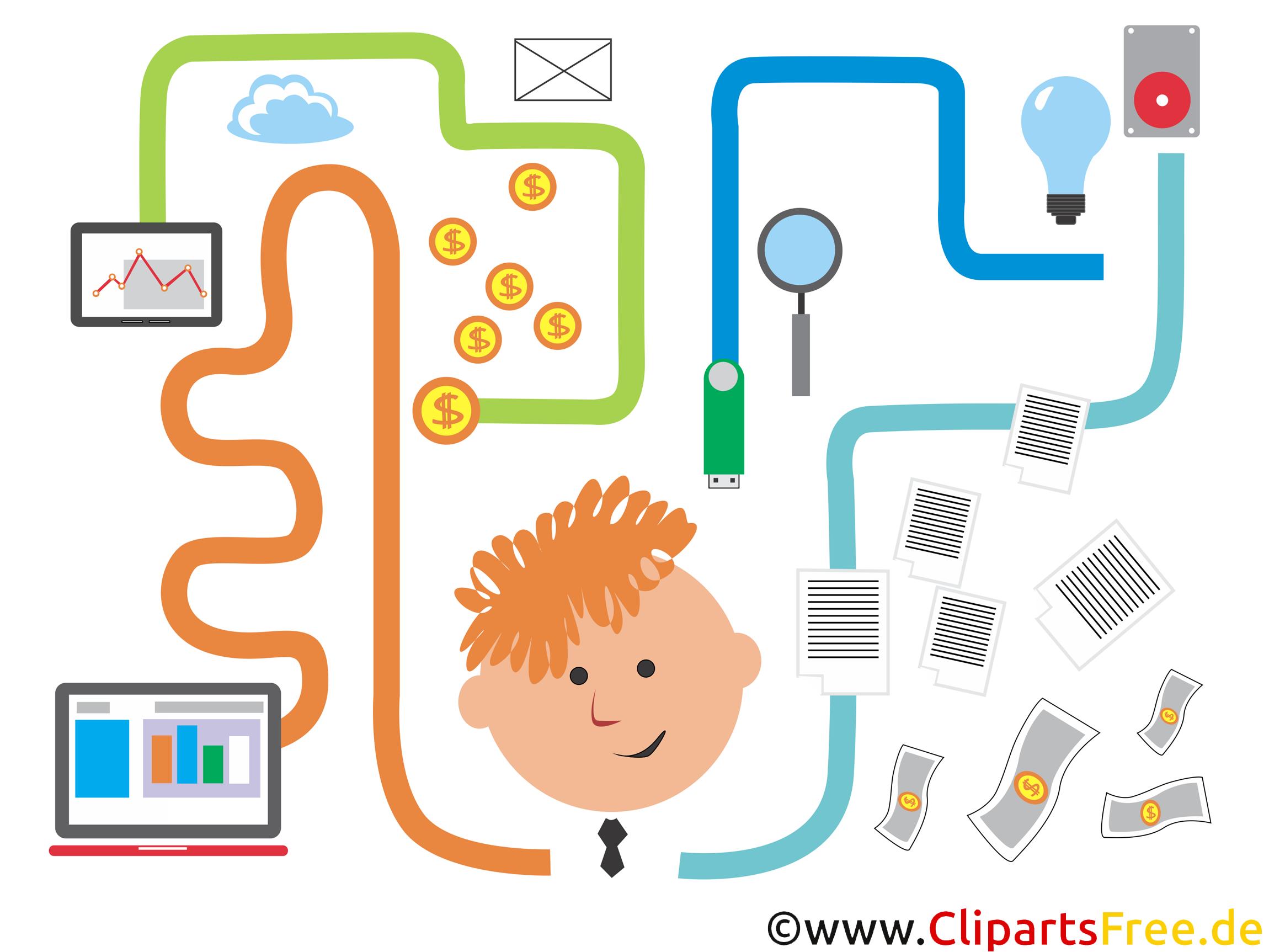 Clipart-Bild Fintech-Apps, Smartphone, Handy