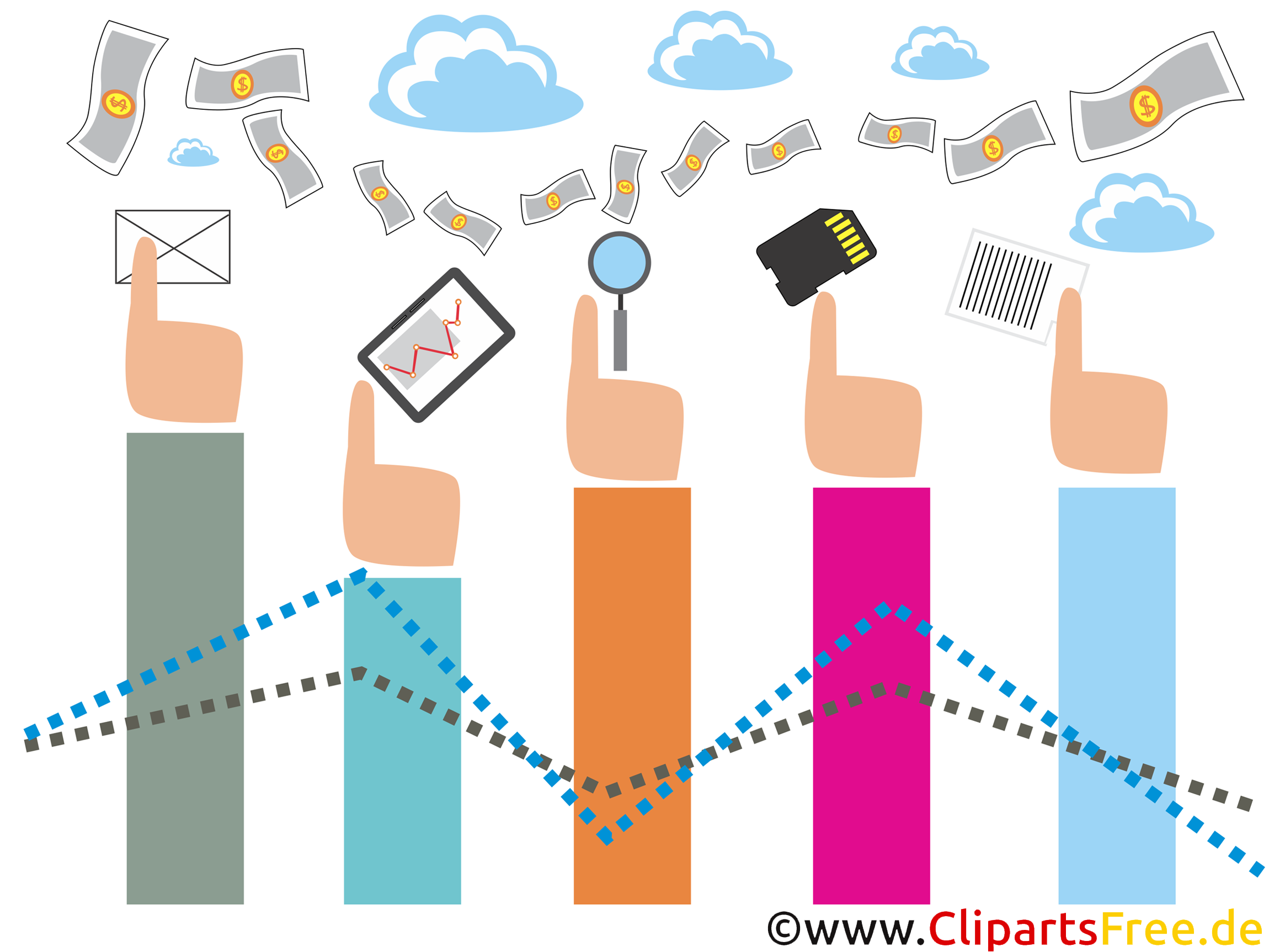 Gratis Illustration StartUps, FinTech, Technologie