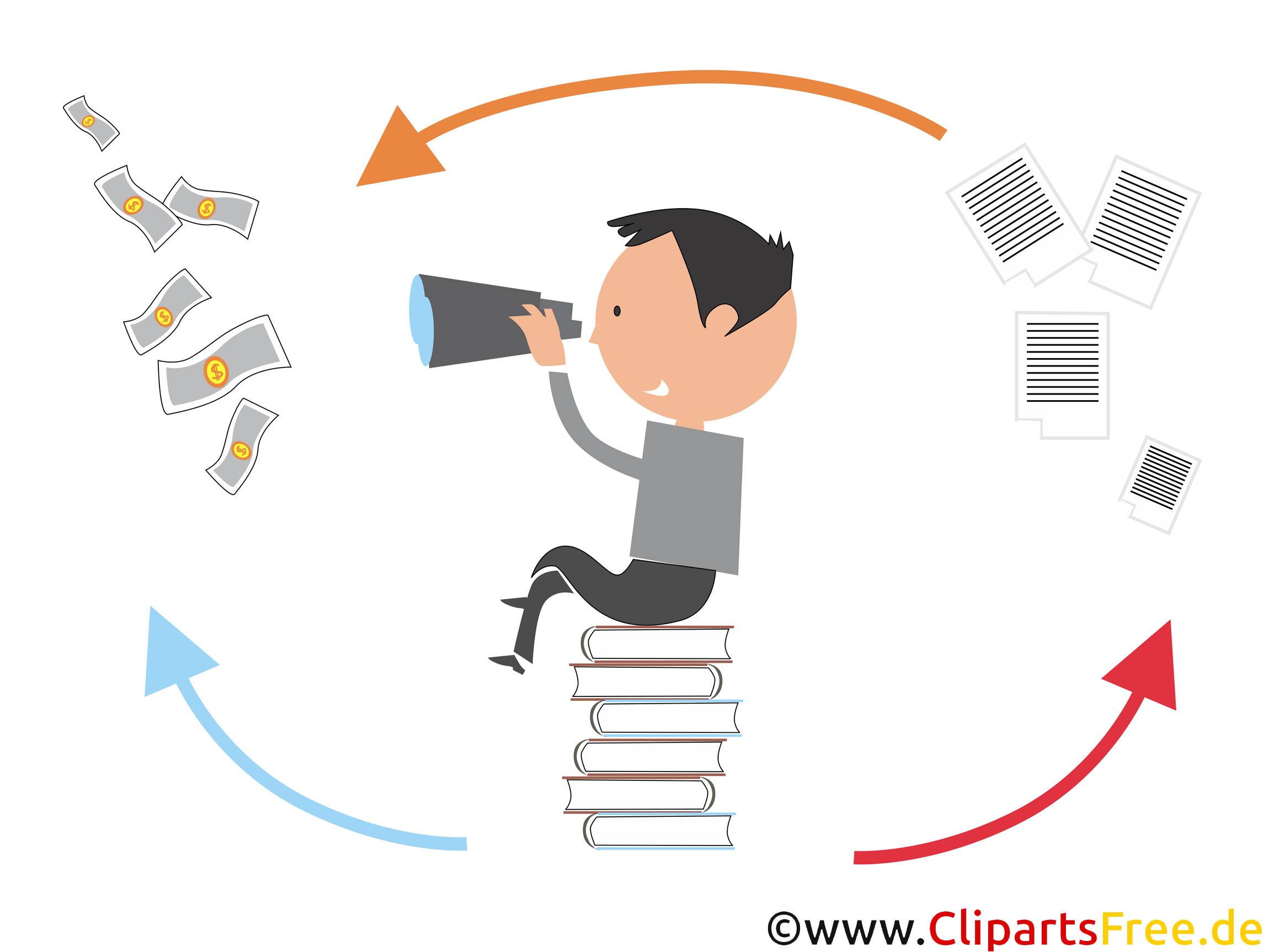 Gründer eines StartUp Illustration, Grafik, Bild, Clipart