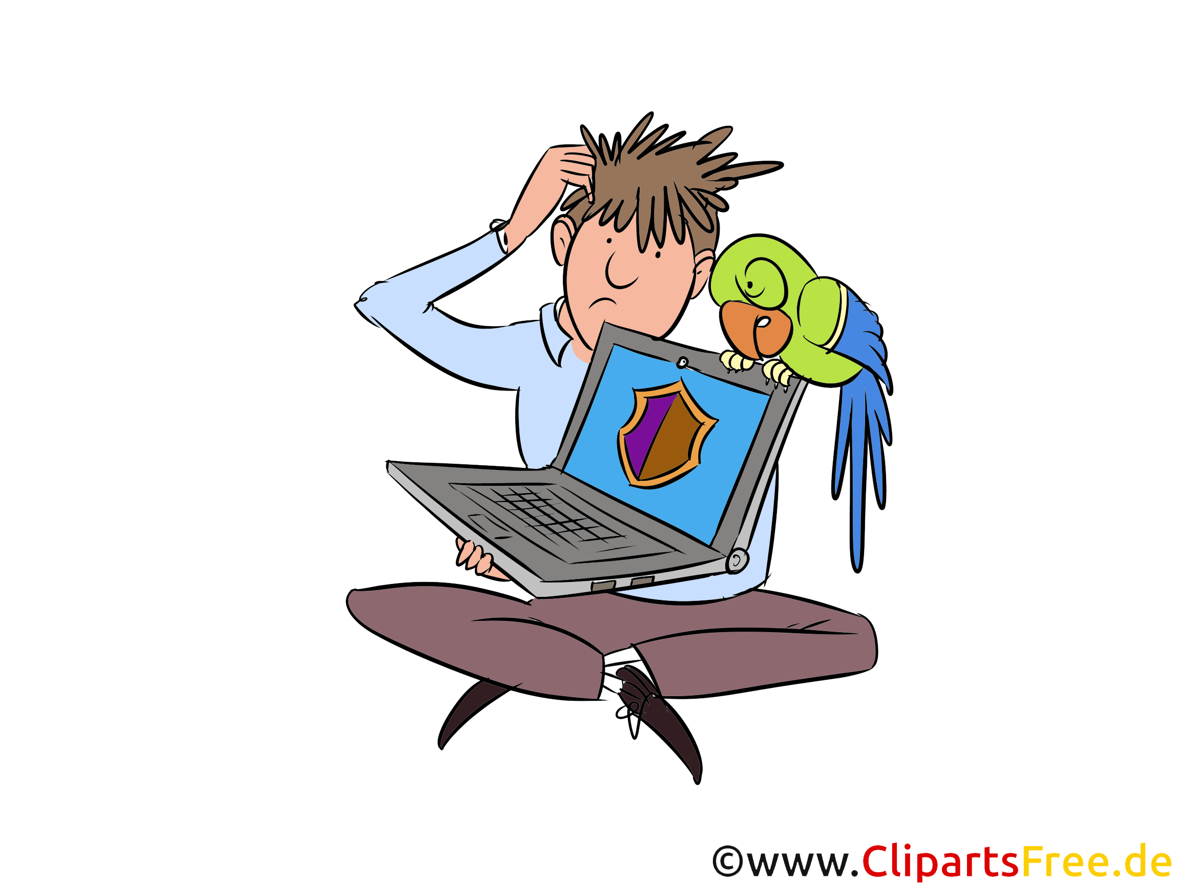 Clipart Administrator, IT-Fachkraft, IT-Sicherheit