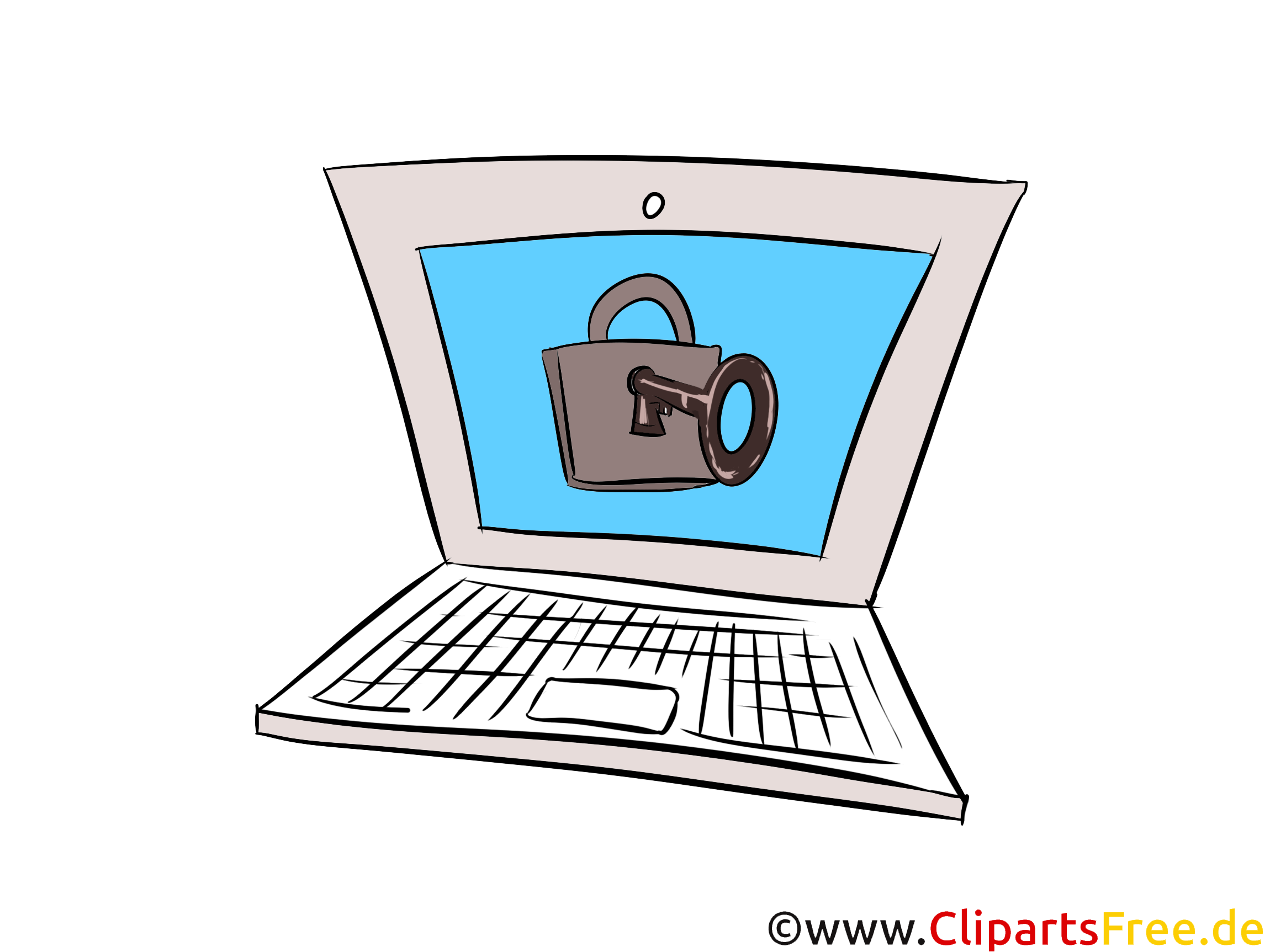 Computer Information Security Clip Art, Image, Illustration free