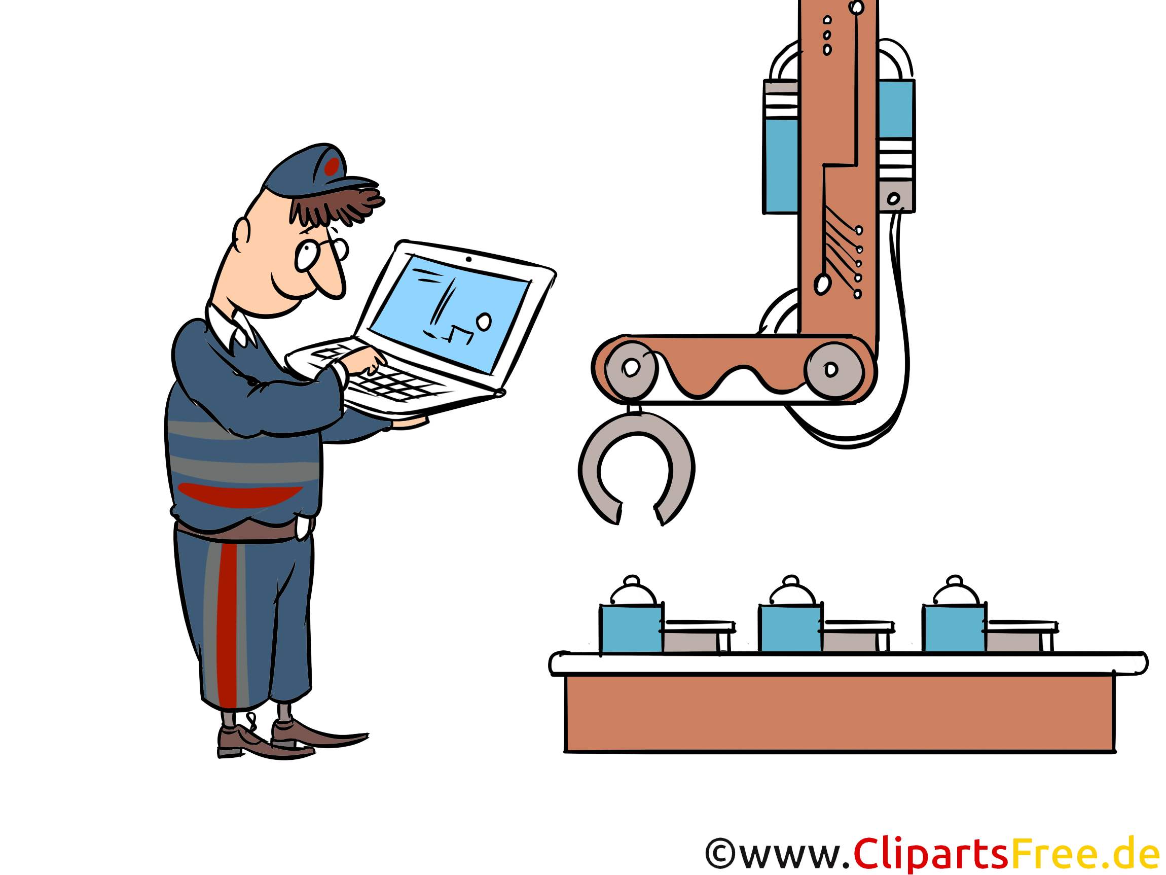 Digitalisierung, Prozessautomatisierung Cliparts, Illustrationen, Bilder