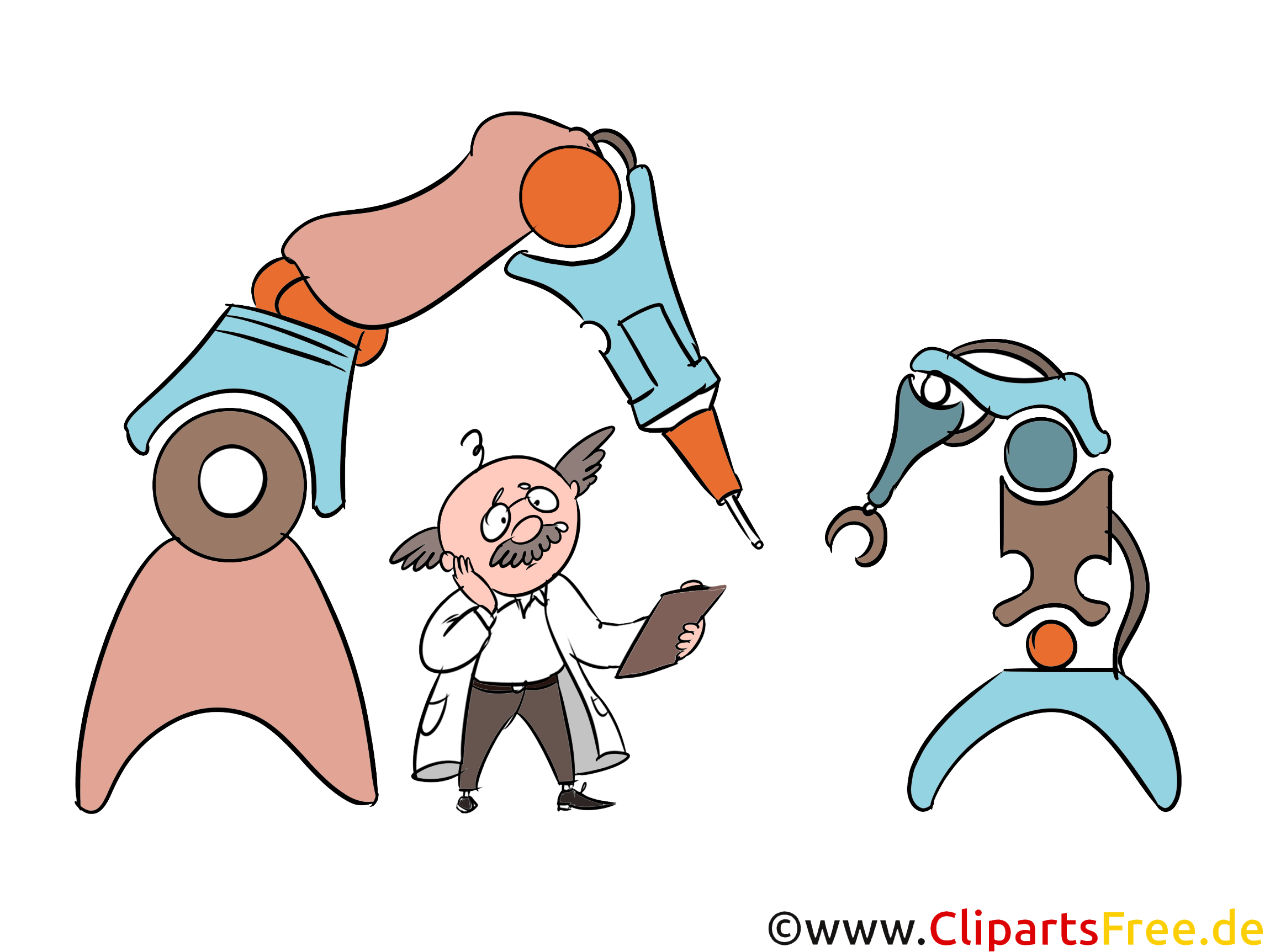 Moderne Robotertechnik, Produktion, Automatisierung Clipart, Grafik, Illustration