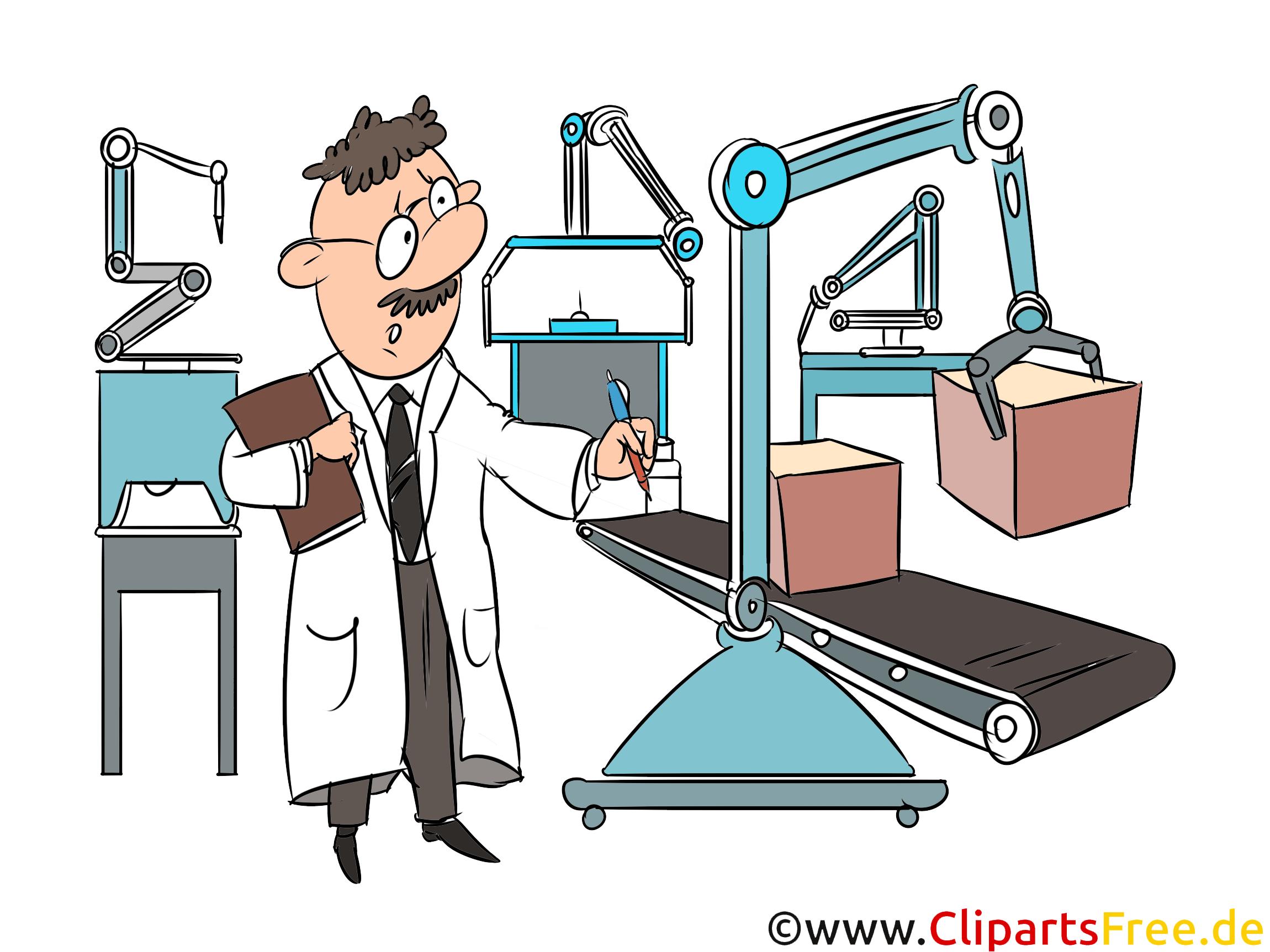Prozess Automatisierung, Steuerung der Produktion Clipart-Illustration