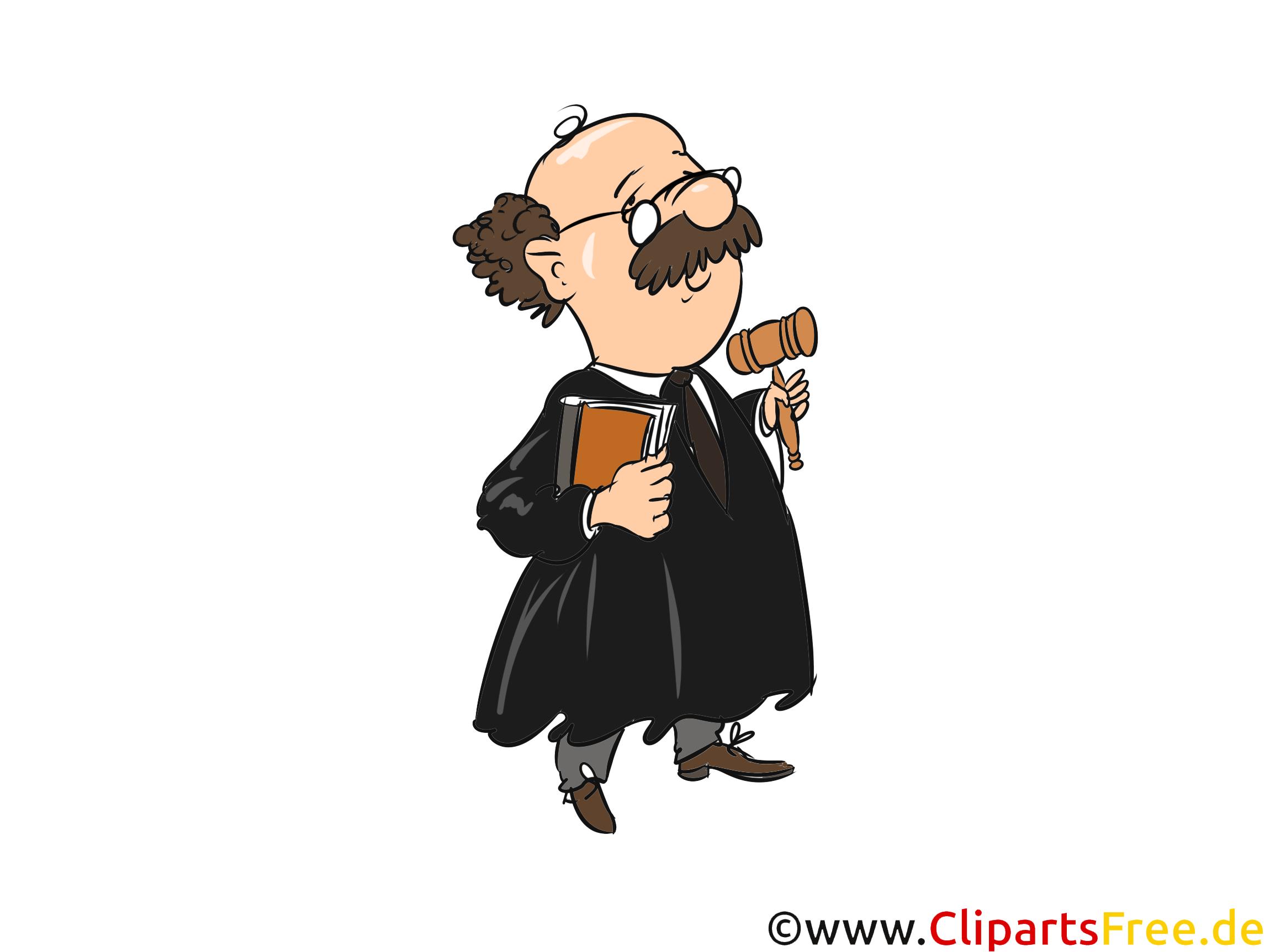 Richter Grafik in Hochauflösung, Cliparts zum Thema Recht und Justiz