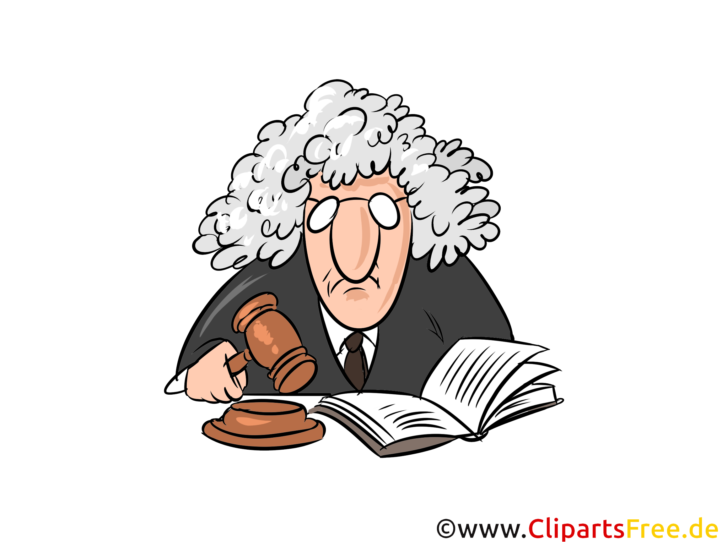 Richter, Justiz Bilder, Cliparts, Illustrationen