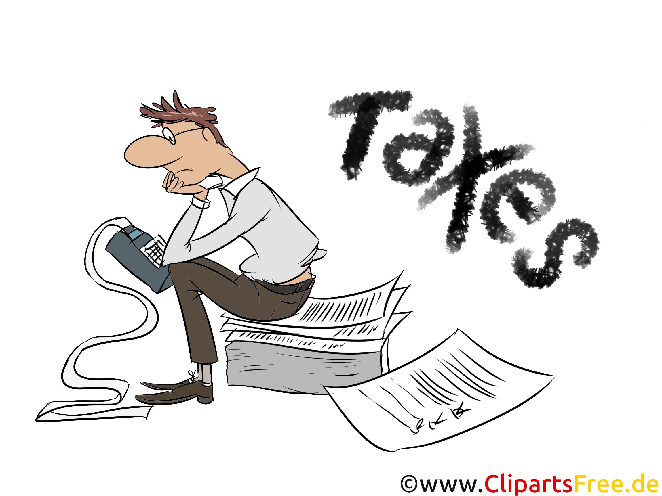 Einkommensteuererklärung erstellen Cliparts, Bilder, Illustrationen gratis