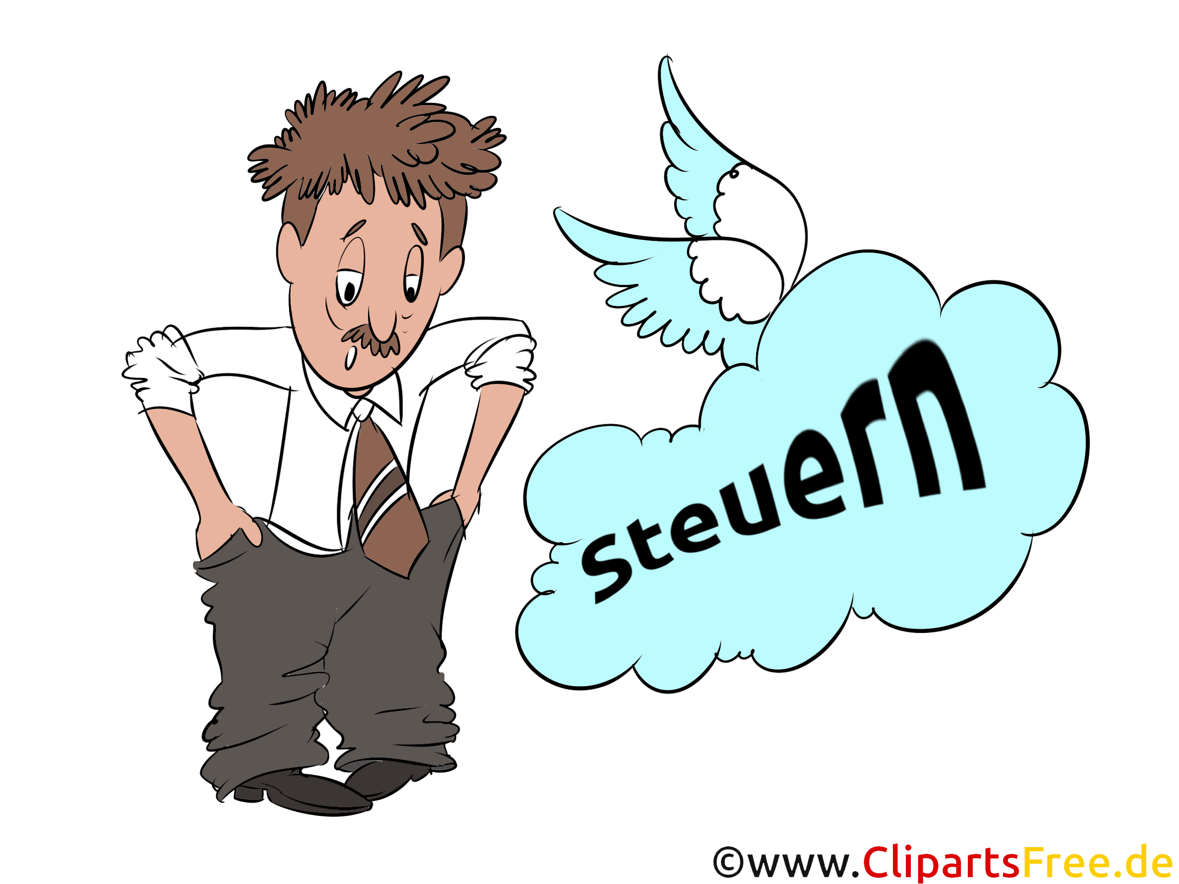 Steuern bezahlen Cliparts, Bilder, Illustrationen