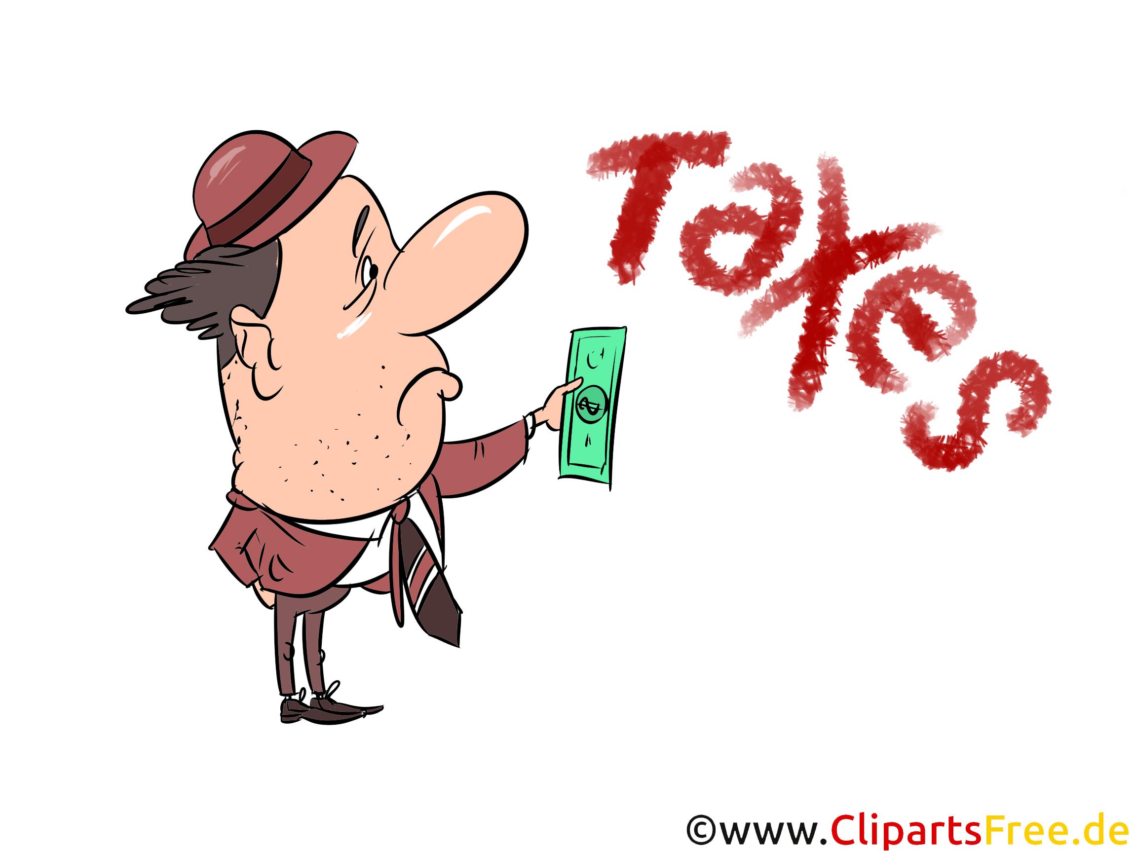 Steuerzahler Cliparts, Bilder, Illustrationen