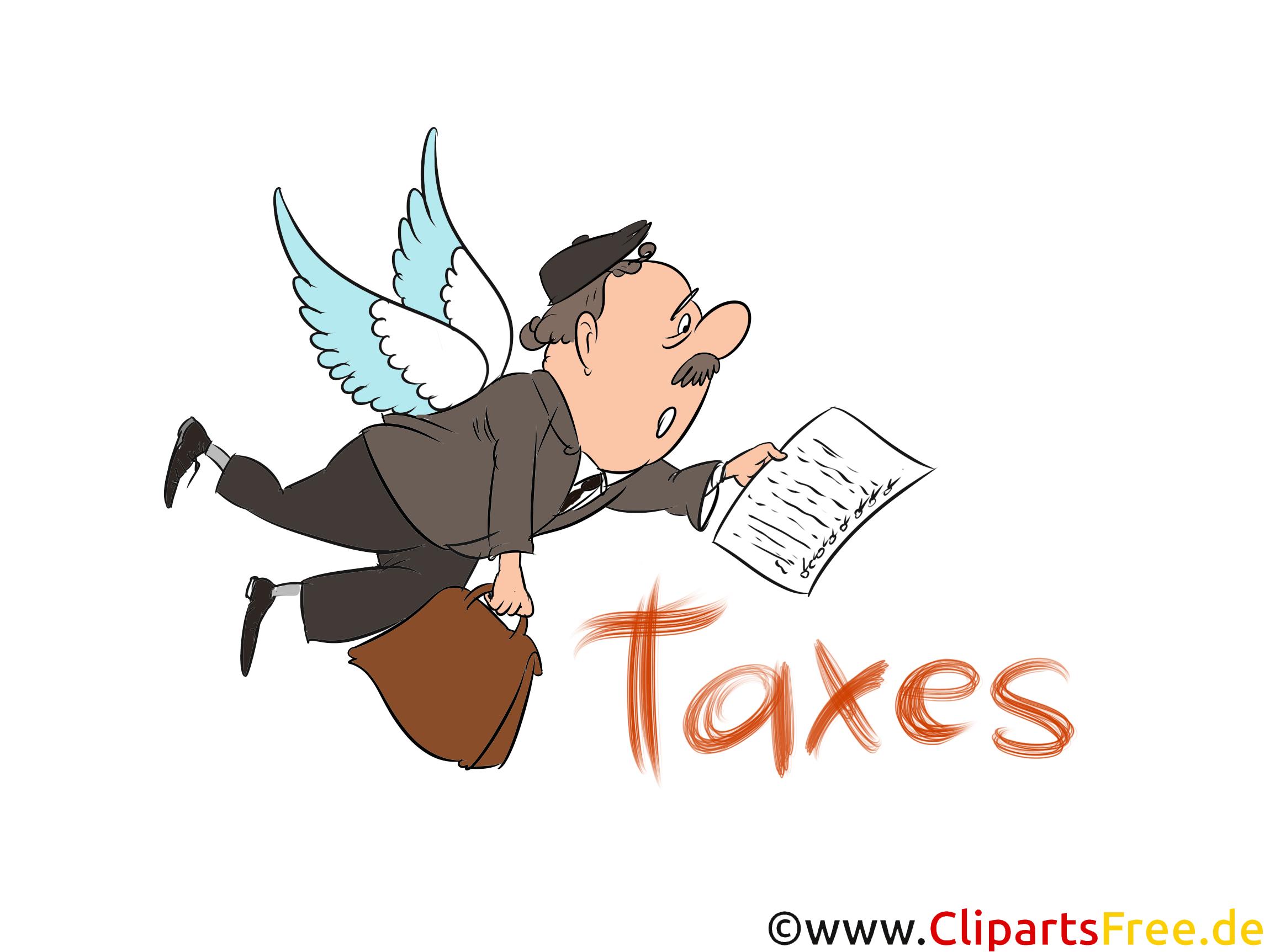 Taxes Clip Art, Image, Illustration