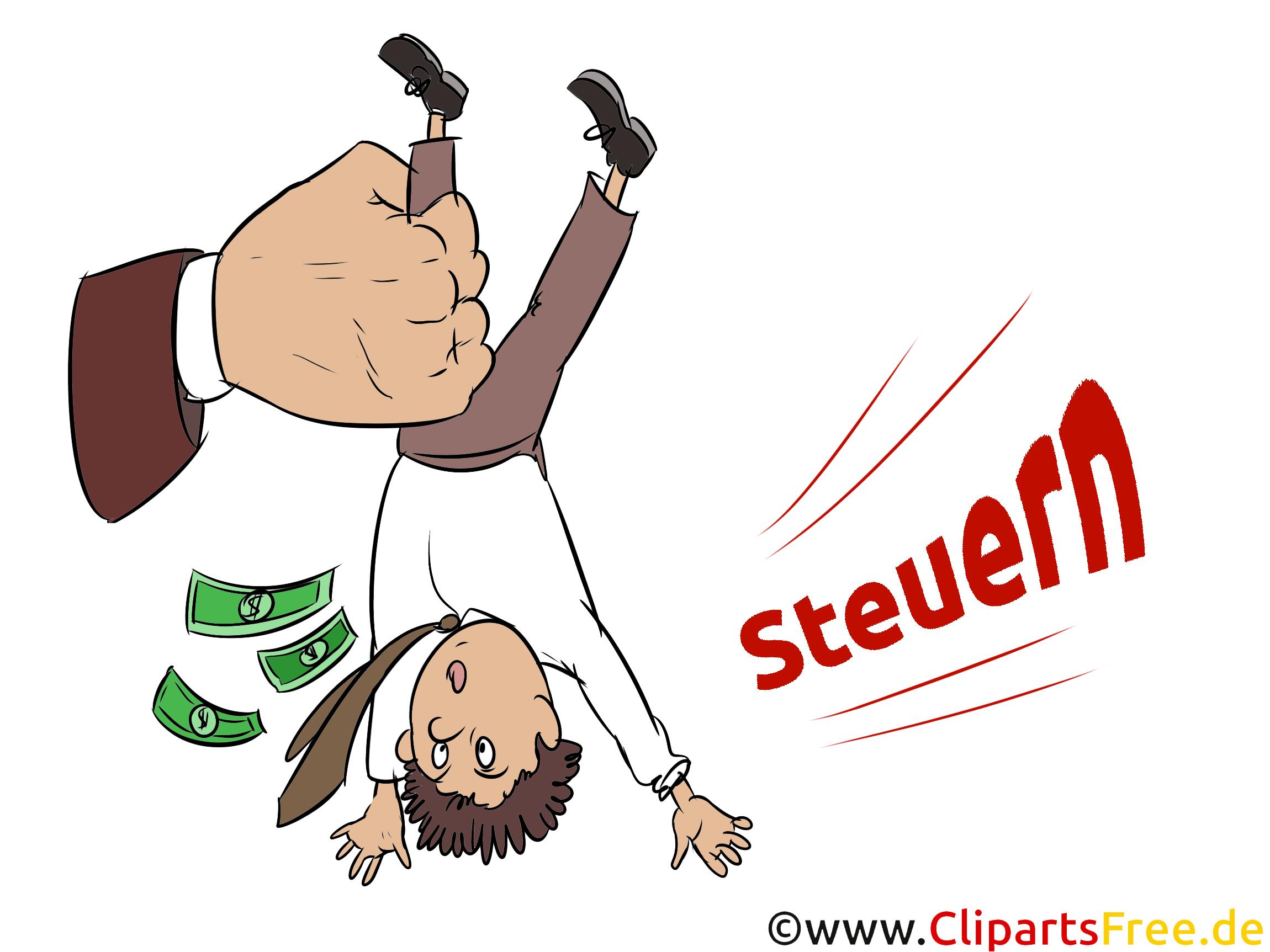 Unternehmer und Steuern Illustrationen, Bilder, Cliparts