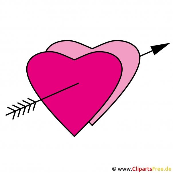 Herz mit Pfeil Clipart - Bild