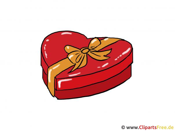 Pralinen zum Valentinstag Clipart - Bild