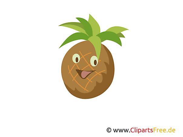 Ananas Clipart, Bild gratis