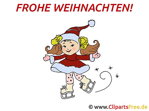 Bild für Weihnachten Schlittschuhe laufen