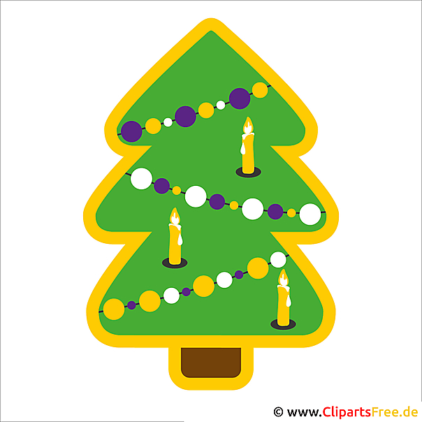 Cartoon kerstboom foto gratis