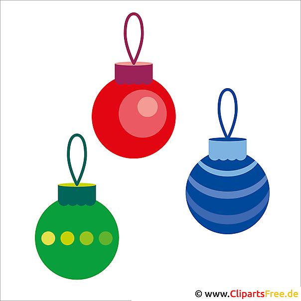 Clipart Weihnachten - Schmuck zu Weihnachten