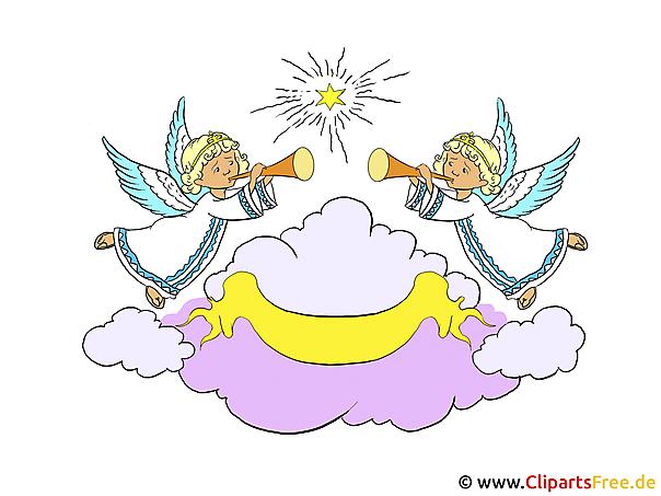 Engel im Himmel Clipart-Bilder