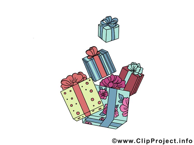 Geschnke zum Weihnachten Clipart - Bild