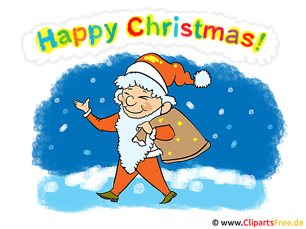 Happy Christmas Clipart, Bild, Grafik, Karte