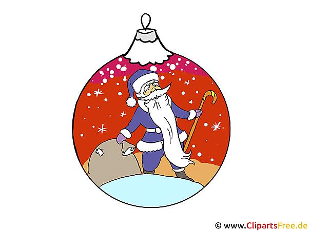 Kugel Tannenbaum mit Weihnachtsmotiv