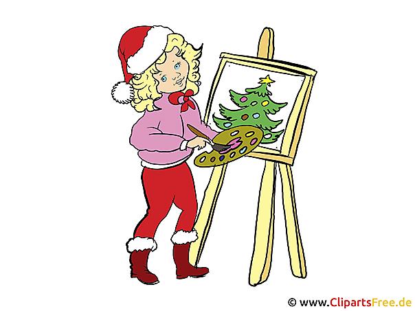 Boyama ve Christmas illüstrasyon için tinkering