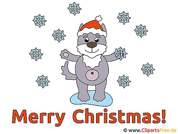 メリークリスマスのクリップアート