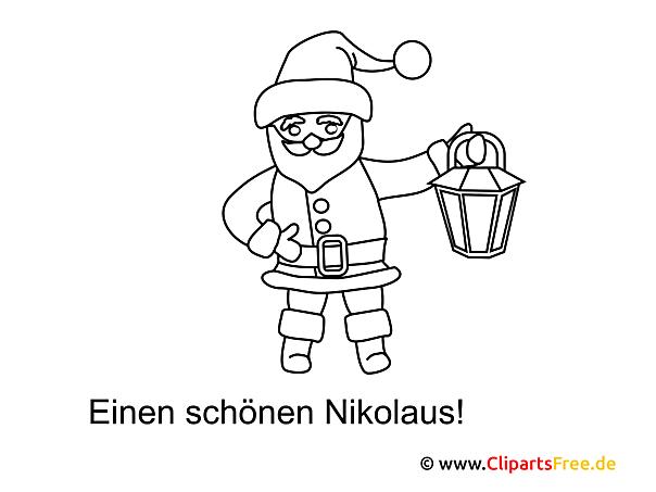 Nikolausbild zum Ausmalen und Drucken