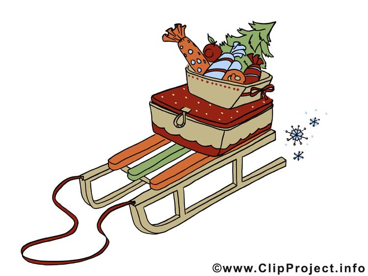 rodelschlitten bild clipart zu weihnachten. Black Bedroom Furniture Sets. Home Design Ideas