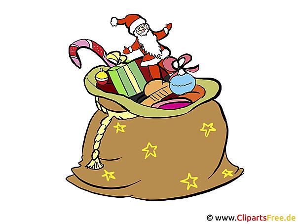 sack mit weihnachtsgeschenken weihnachtskarten selbst. Black Bedroom Furniture Sets. Home Design Ideas