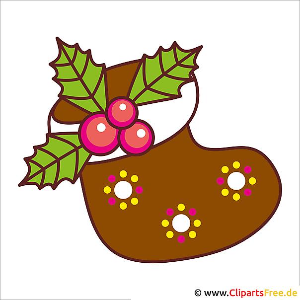 Socken mit Geschenken - Weihnachtsbild gratis