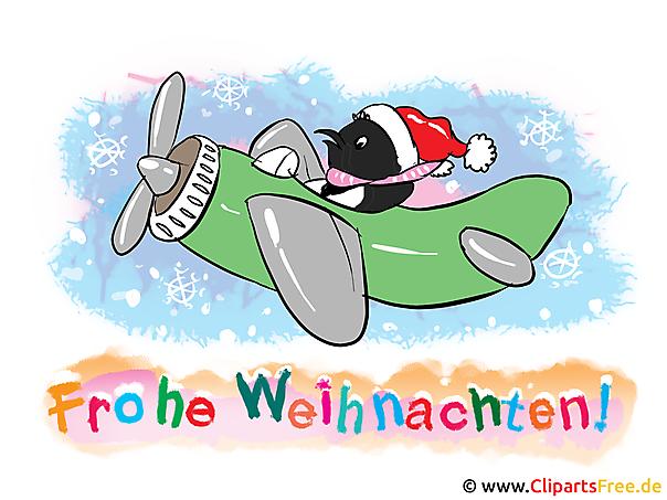 Weihnachtliche Cliparts - Frohe Weihnachten Grusskarte