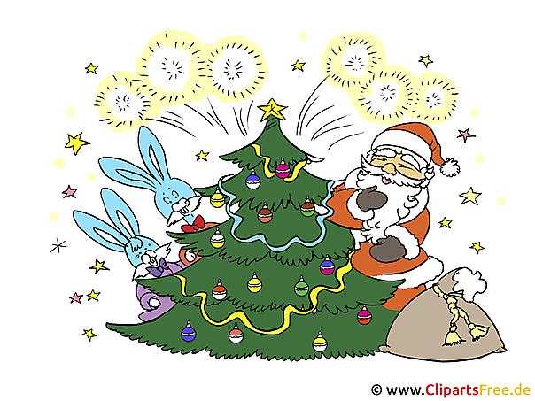 Weihnachtskarten selber machen mit unseren gratis Cliparts