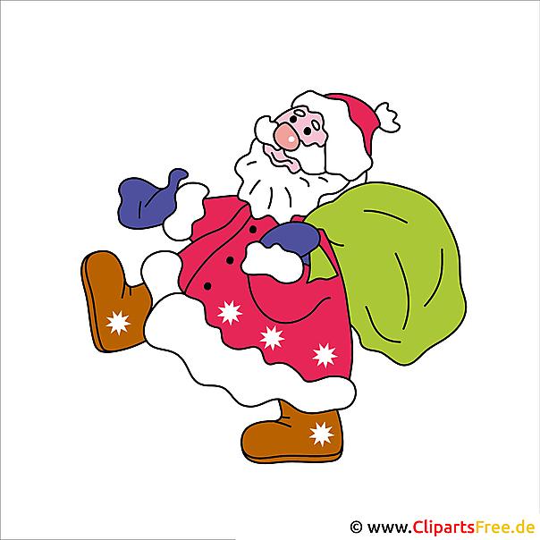 weihnachtsmann mit geschenken clip art free. Black Bedroom Furniture Sets. Home Design Ideas
