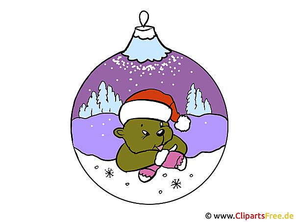 Weihnachtsmotive Clipart-Bilder-Illustrationen