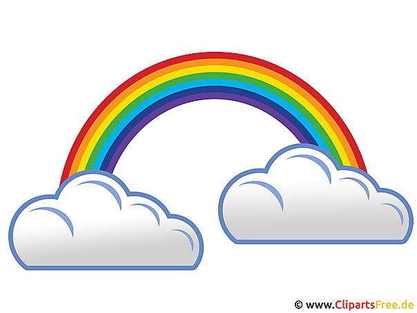Bildtitel: Regenbogen und Regenwolken Image