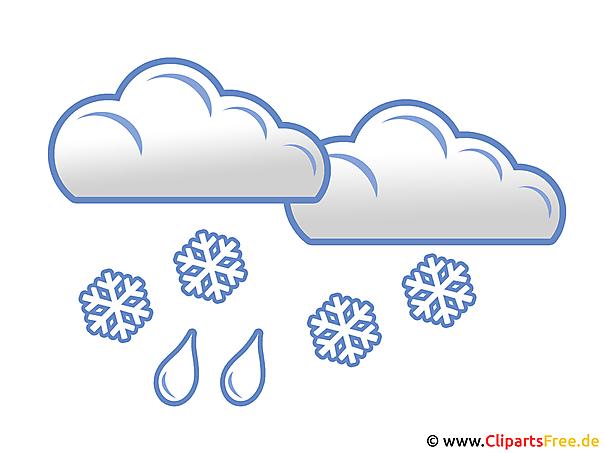 Schnee Mit Regen Wetter Bilder