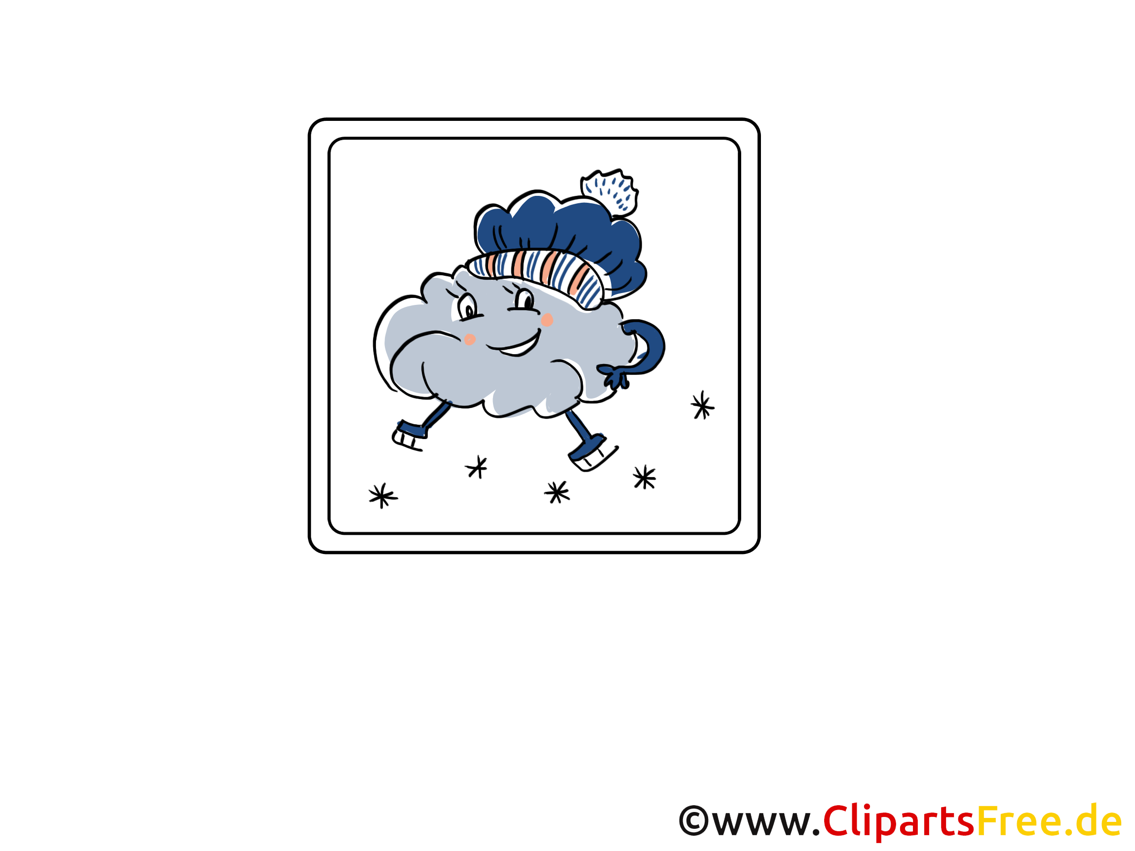Hava Durumu Simgesi Kar Ve Bulutlar