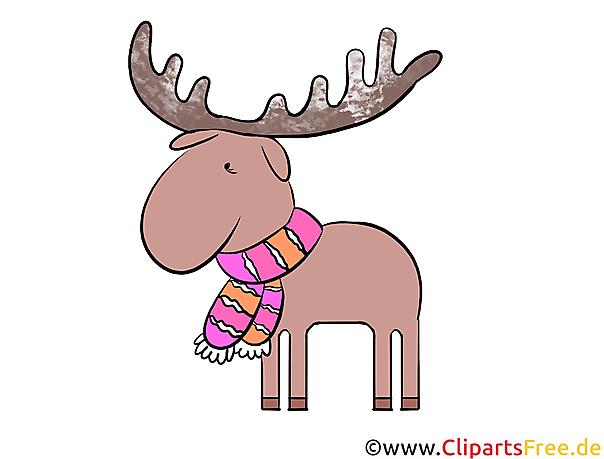 Weihnachtsbilder Elch.Elch Clipart Illustration Bild Kostenlos