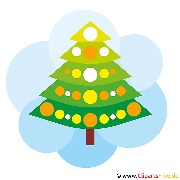 Merry Christmas Clipart fir-tree afdrukbaar