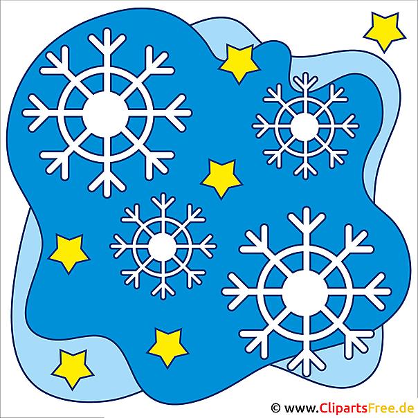 Schneeflocken Clipart zu Weihnachten