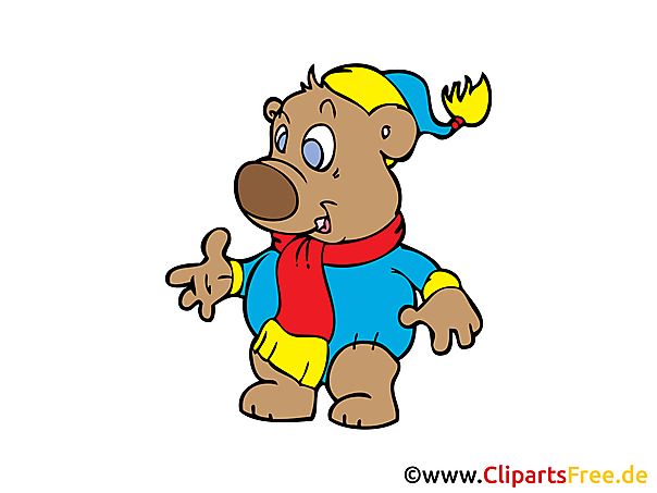 Teddy Baer Clipart, Bild, Comic, Cartoon gratis