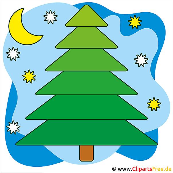 Weihnachtsbild Tannenbaum im Wald