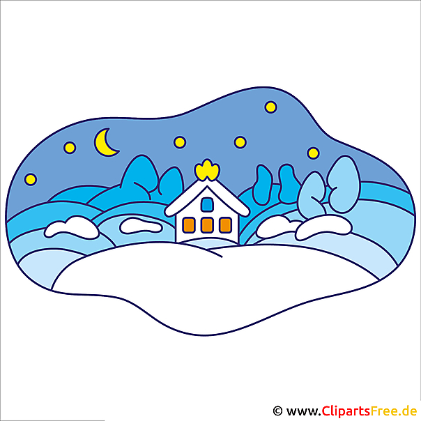 Winter Clipart - Silvester Cliparts kostenlos